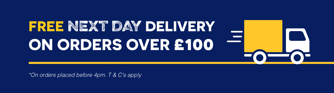 Free next day delivery on orders over £100