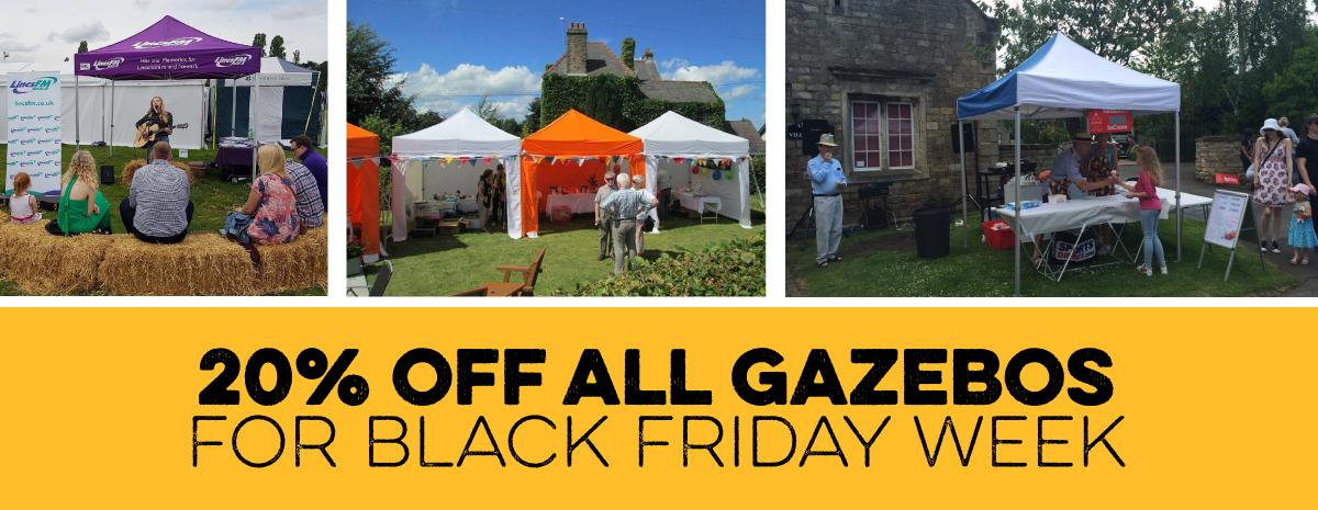 20% off gazebos on black friday