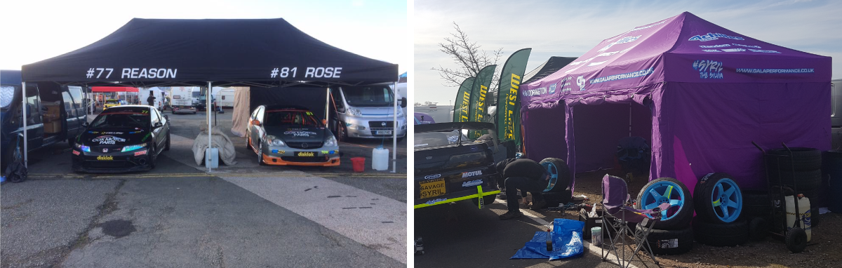 Motorsport Awning Tents Collage
