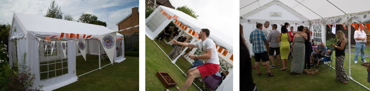 Chip Chuck game in a Gala Tent marquee